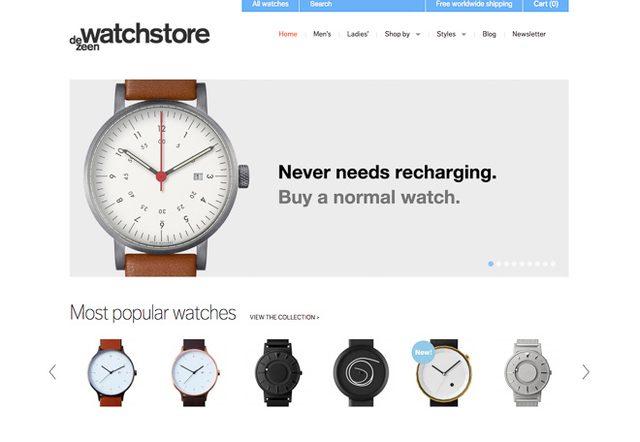 画像: アップルウォッチに対抗?dezeen誌サイトの「普通の時計を買おう」ヴィジュアルが話題