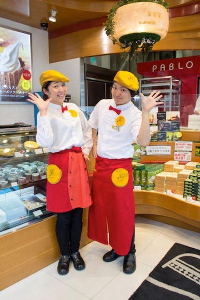 画像: 上田安子服飾専門学校生がチーズタルト専門店のユニホームデザイン