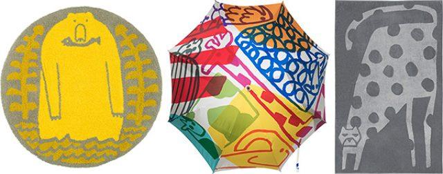 """画像: """"毎日が楽しくなる"""" 鈴木マサルの「傘とラグとタオル」展が開催"""