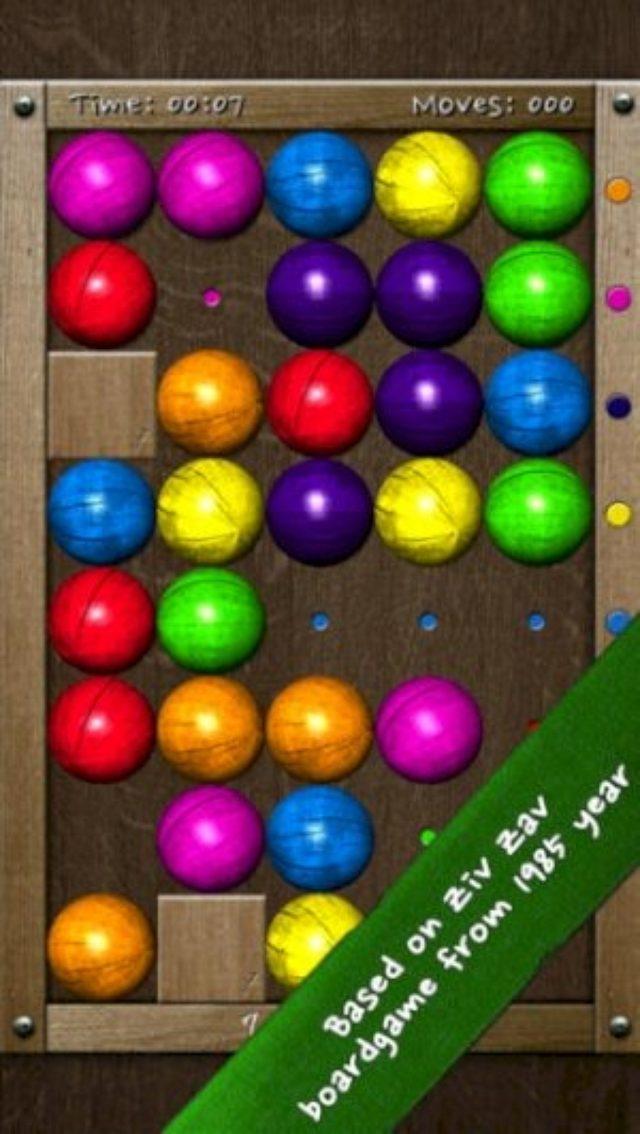 画像: 7色のボールを転がして揃える激ムズなスライドパズル『7 Planets』