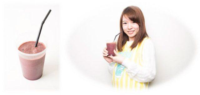 画像: 《アサイースムージー》 美容効果で大人気のアサイーを使ったさっぱりしたヘルシースムージー。 ■価格:400円