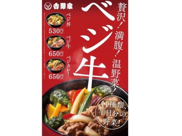 画像: 吉野家が半日分の野菜を食べれる「ベジ丼」発売!11種類の温野菜を盛り付けた健康的な丼をご提供