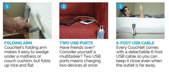 画像: ソファやベッドで寝転がって、端末を充電しながら操作も可能に!