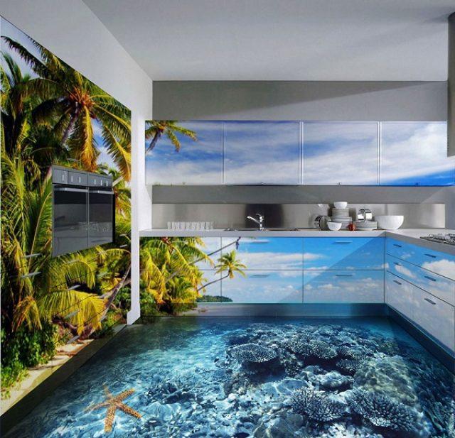 画像: 自宅の床にイルカ?驚きのトリックアートでお部屋を模様替えしよう
