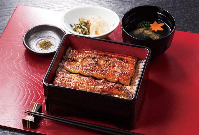 画像: 鹿児島県産うな重 2,099円(税抜) うな重に肝吸い、お新香のセット。やわらかで香ばしい国産うなぎをこの季節にぜひご賞味ください。