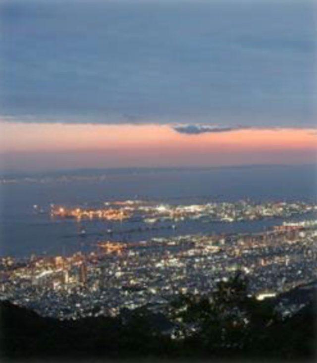 画像: 天覧台からの夕景