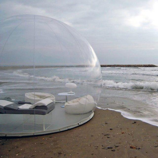画像: 開放感バツグン!?自然とひとつになれるバブルテントが気になる