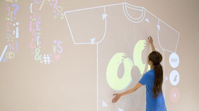 画像: オープニングセレモニーオオサカでミントデザインズのオリジナルTシャツがデザインできるインタラクションがスタート!