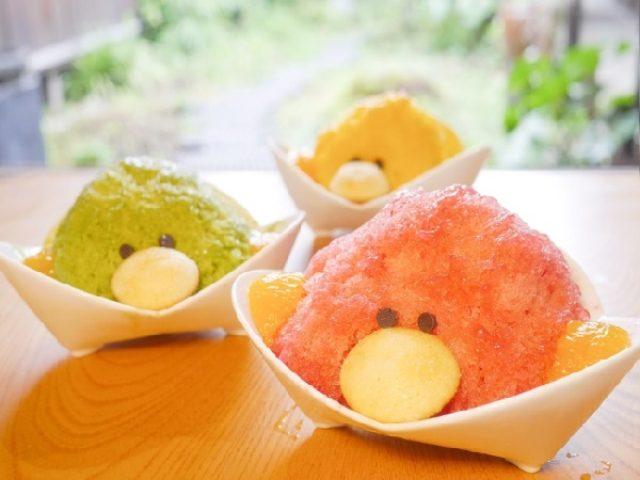 画像: まるで小鳥のよう!!ひんやりキュートな「いちご味」のかき氷が古民家再生の和カフェにお目見え