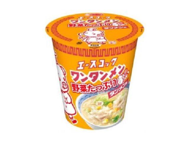"""画像: 鰹だし&松茸風味のスープにたっぷり野菜が嬉しい!!エースコックの超ロングセラー""""ワンタンメン""""が「タテロング」に登場"""