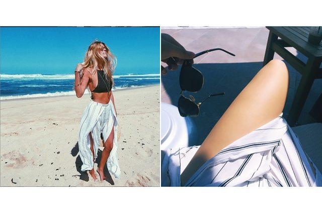 画像: いつでも海に行けるように。今年の夏はシティビーチスタイルにハマっています! (Juna Chen)