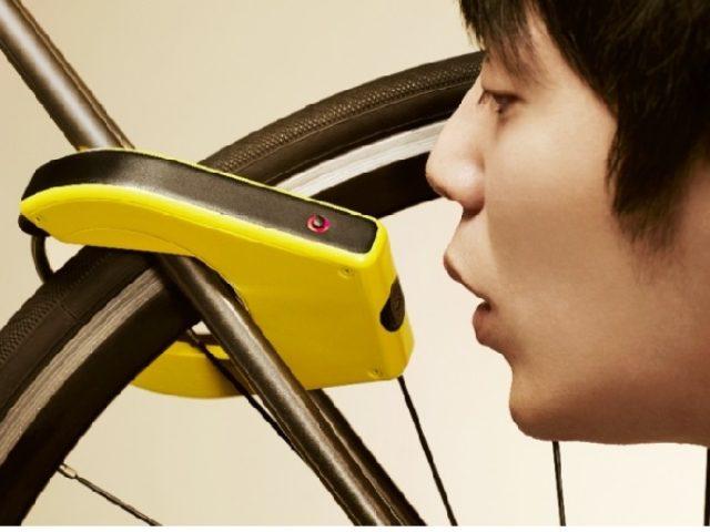 画像: 飲酒者は自転車に乗らないようにお知らせ 世界初の機能つき自転車ロック