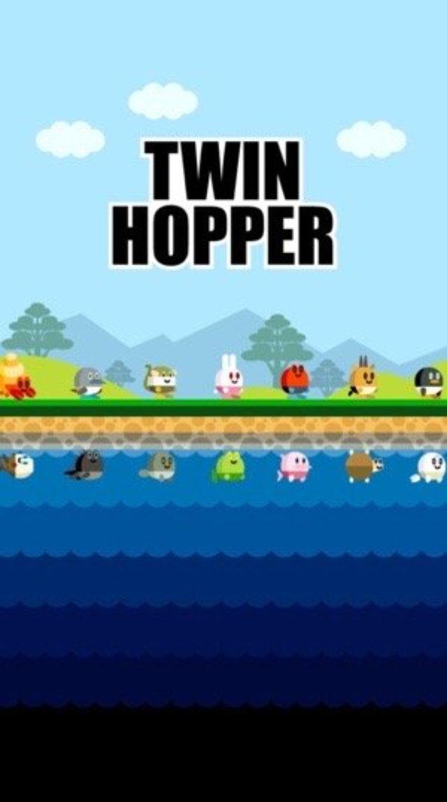 画像: 【激ムズ】挑戦者求む!上下で別キャラを同時に操作するアクションゲーム『TWIN HOPPER』