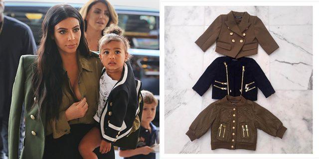画像: カニエ・ウェスト夫妻の娘ノース、バルマンの特性ジャケットをプレゼントされる。