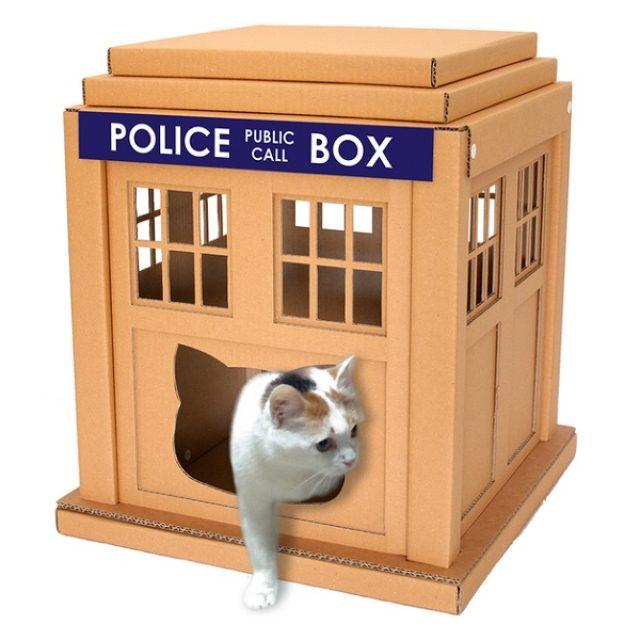 画像: 猫耳まで再現!?ニャンコのダンボールハウスがかわいすぎる