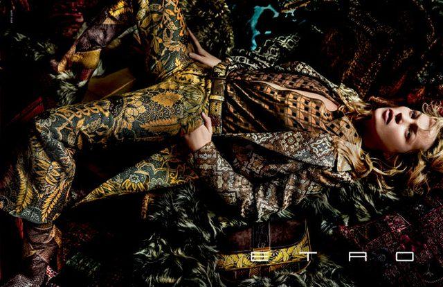 画像: ケイト・モスがタペストリーを纏う、エトロの2015年秋冬広告キャンペーンが公開。