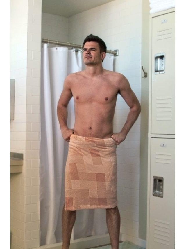 画像: 裸みたいでドキッとしちゃう!?モザイクのバスタオルが面白い