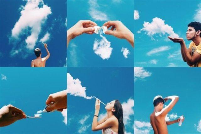 画像: 【Instagram】雲を何かに見立てた写真の発想力がお見事!