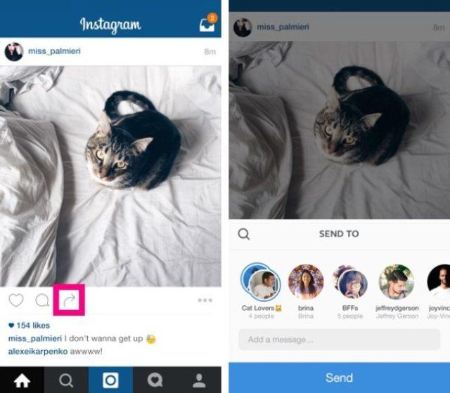 画像: InstagramのDM機能強化!投稿された写真や動画をメッセージ内でシェア出来る♪