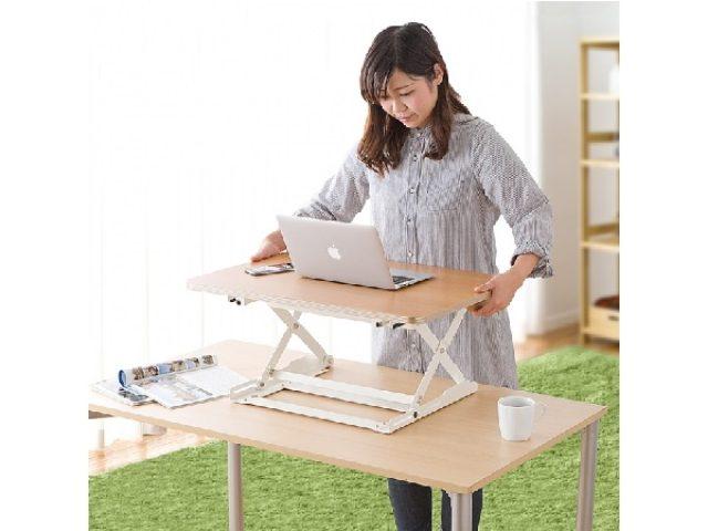 画像: PC仕事は「立っても座ってもOK!」座りっぱなしの不安を解消するテーブル