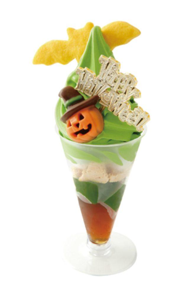 画像: ソラマチ店限定! 祇園辻利の抹茶ソフトでハロウィンを楽しむ。