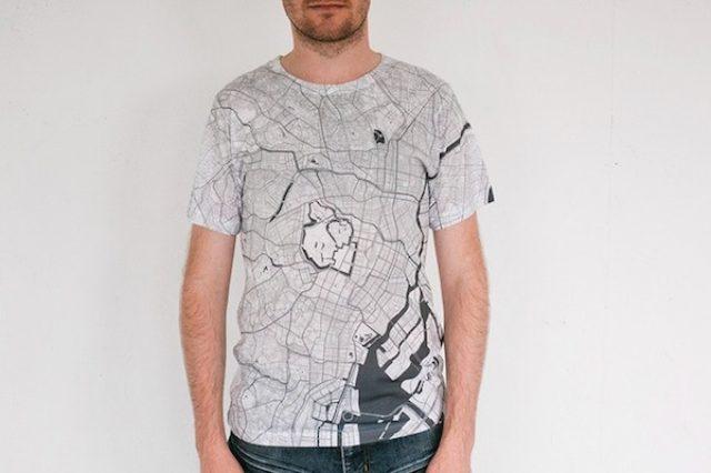 画像: 東京やNYも!地図になったTシャツがシンプルでおしゃれ