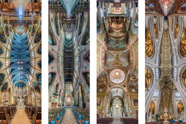 画像: 美しすぎる!教会の天井を写したパノラマ写真が話題に