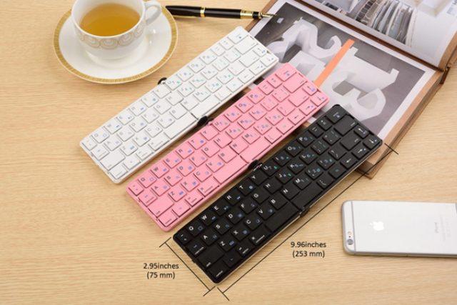画像: スマホやタブレットの入力に!ポケットサイズの折りたたみキーボードが便利