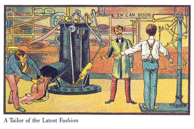 画像: 空飛ぶ車や水中乗馬も!1900年に描かれた未来予想図が面白い