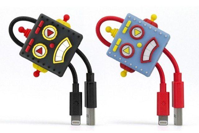 画像: どこでも持ち運べてアクセサリーにもなる『ロボット型 Lightningケーブル』