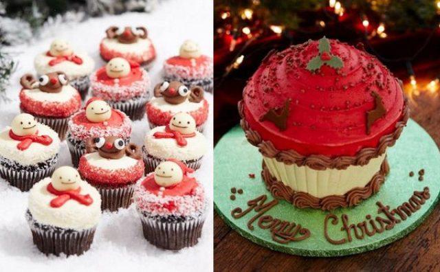 画像: シェア専用特大サイズも!ロンドン発の人気カップケーキ店がクリスマス限定商品を発売