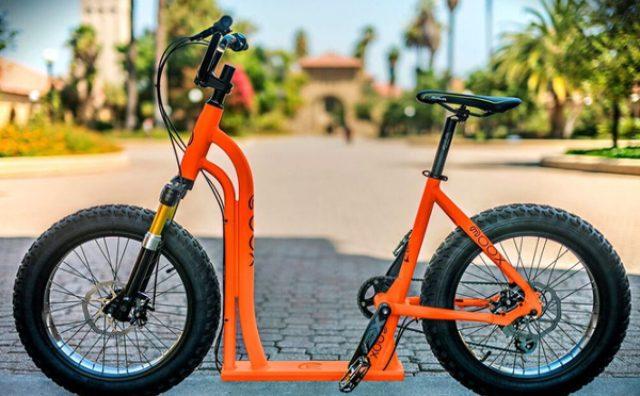 画像: 街乗りにぴったり!キックボードと一体になった自転車が面白い