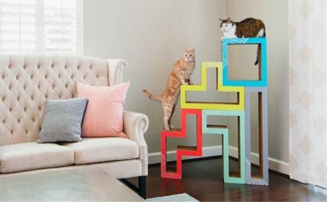 画像: 猫のためのテトリス!?組み合わせて遊ぶブロック型の家具が可愛い!