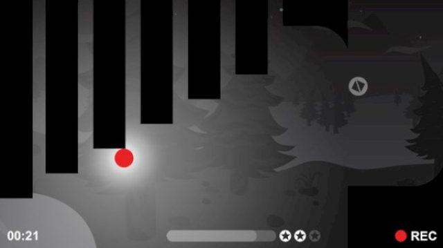 """画像: 録画中の""""赤いヤツ""""がモノクロ世界を冒険する激ムズアクション『REC』"""