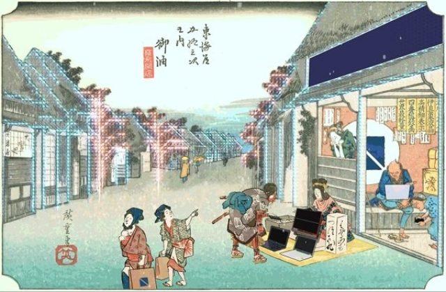 画像: デジタルは江戸の生活も便利にする?動く浮世絵『LAVIE in EDO』が面白い!