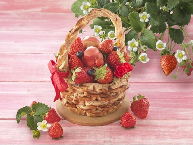 画像: いちご摘みの気分になれる♪バスケット型のタルトパイでワクワク気分をプレゼント
