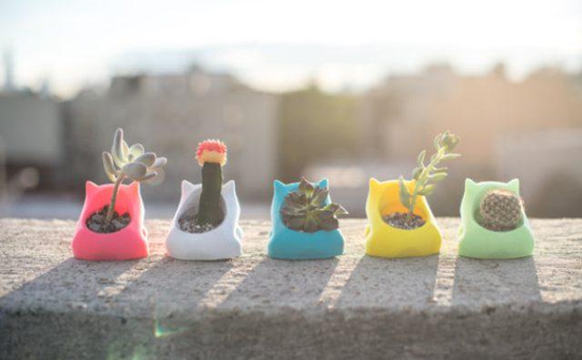 """画像: 春はお部屋に小さな緑を!3Dプリンター製の""""動物プランター""""がかわいい!"""