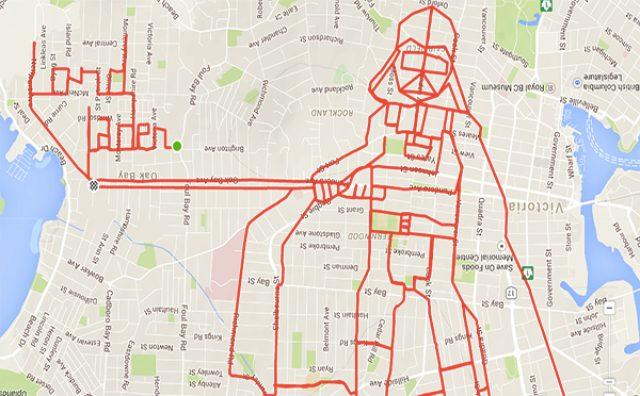"""画像: 街がキャンバスに!自転車で書く""""世界一大きな落書き""""がクール!"""