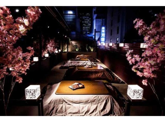 画像: 冬と春のイイトコ取り!?あの「こたつテラス」がお花見仕様の「桜こたつテラス」に変身!