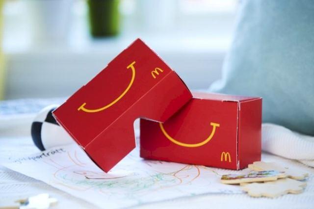 画像: マクドナルド、ハッピーセットの箱がVRグラスになる『Happy Goggles』をスウェーデンで提供!