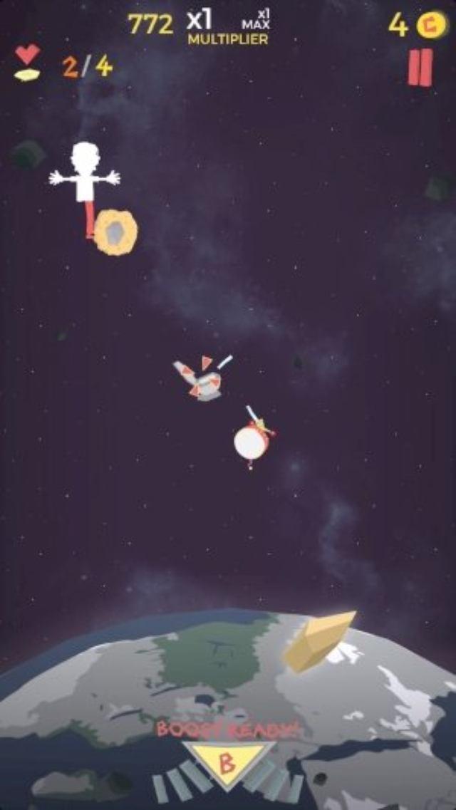 画像: 落ちるかもしれないヒヤヒヤ感が癖になる!指1本のシューティングゲーム