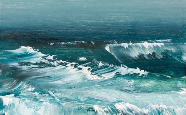 画像: 不思議な世界に思わず引き込まれる!?心癒やされる海を描いた絵画作品