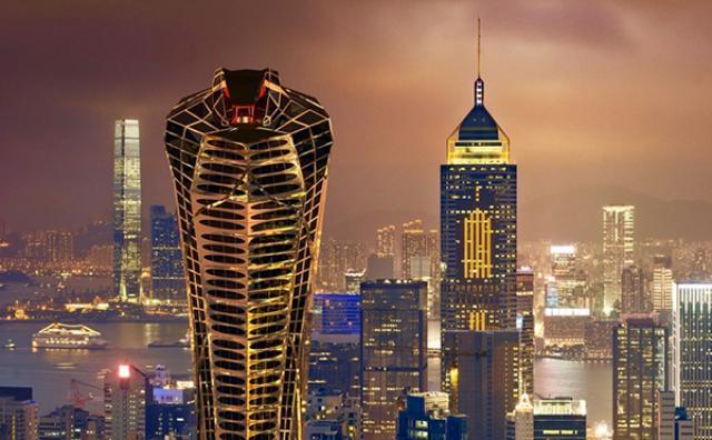 """画像: 新たな観光名所!?ロシアの建築家がデザインした""""コブラ型""""の高層ビルがユニーク!"""