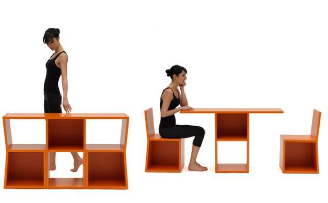 画像: 究極の省スペース☆一瞬でテーブルセットに変身する棚がすごい