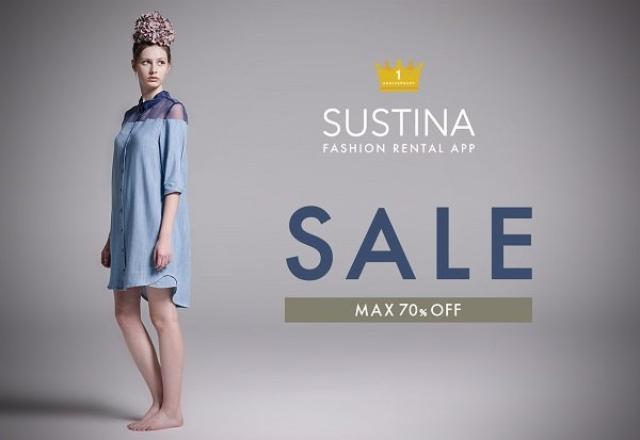 画像: 最大70%オフで服が買える♪ファッションレンタルアプリ『SUSTINA』が1周年記念セールを開催中