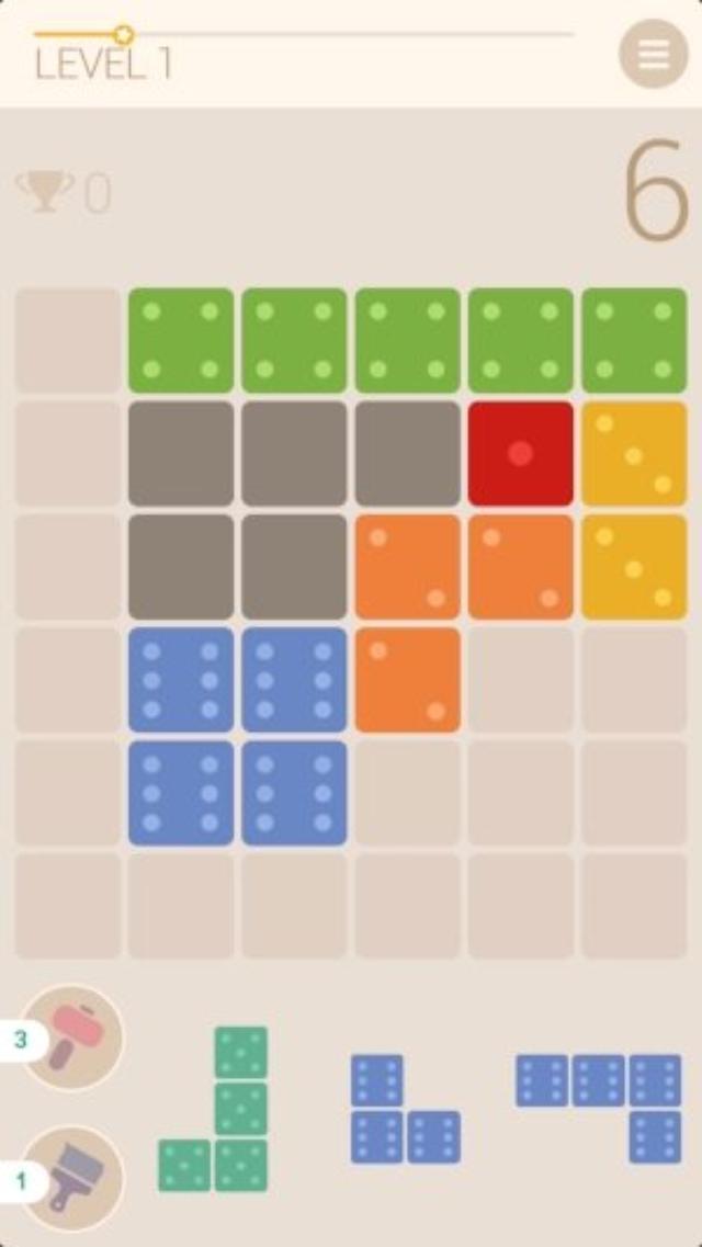 画像: サイコロの目でカウントダウン!緊迫感が楽しいブロックパズル『Blocky 6』