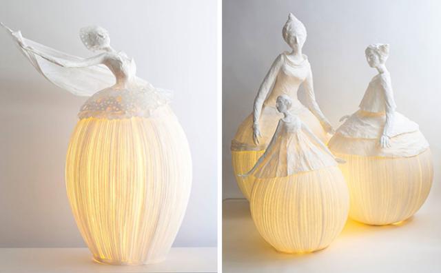 画像: まるで優雅な踊り子♡ドレスをまとった人形のランプにうっとり