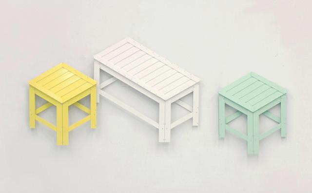"""画像: まるでだまし絵☆驚きの""""平面なのに座れる""""椅子とは?"""