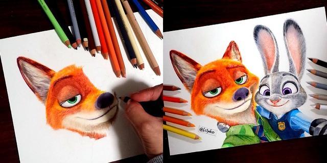 画像1: 色鉛筆を使って描かれたリアルすぎるイラストに注目が集まっています。 リアルで繊細すぎる色鉛筆画 これは、Lily・りりぃさん(@Li1yko)さんが描いたディズニー映画『ズートピア』に登場するニック・ワイルドのイラストです。 色鉛筆でCGにどこまで近づけるかしら( ́ー`) これで大体3時間くらい経過モフモフ#ズートピア #ニック #Zootopia #drawing #色鉛筆 pic.twitter.com/6fqxxY4t8D — Lily・りりぃさん (@Li1yko) 2016年5月13日 りりぃさんは、色鉛筆でハリウッド俳優を中心にイラストを描いています。 「色鉛筆でCGにどこまで近づけるかしら」のツイートとともに、作画中の [...] irorio.jp