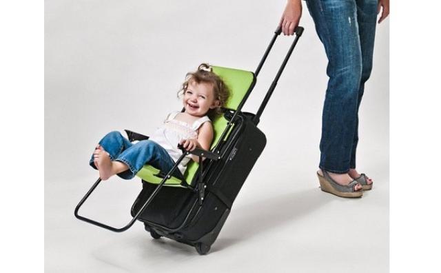 画像: 荷物と一緒に子どもを運べる☆取り付け式キッズチェアーが旅行に大活躍!